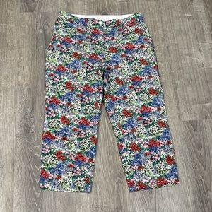 Talbots Floral Capri Pants Perfect Skimmer 6